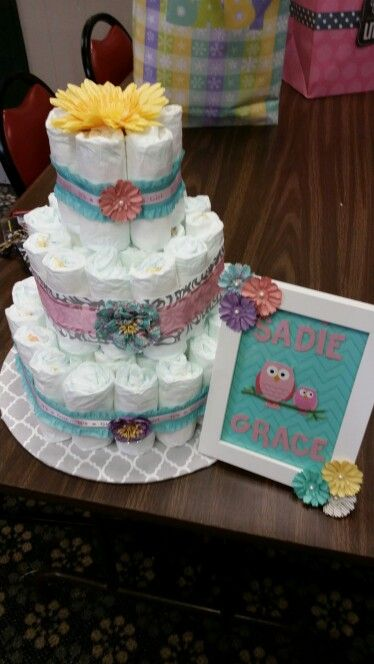 My diaper cake I made for a friend.