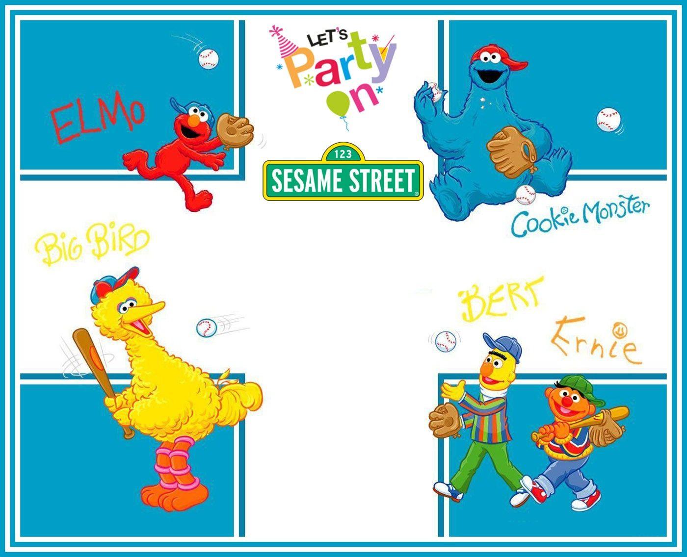 Free Printable Sesame Street Party Invitation Template | aniversario ...