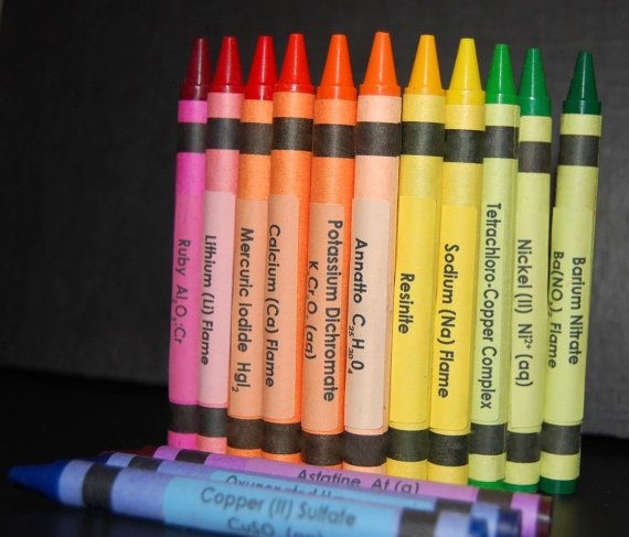 Chemistry Crayon Labels  set of 120 by QueInteresante on Etsy, $15.00