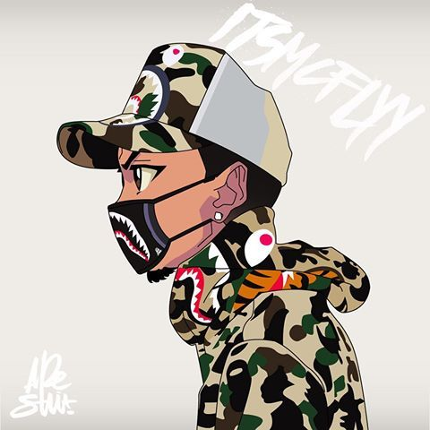 Bape crime dope supreme bape nike toons supreme - Hood cartoon wallpaper ...