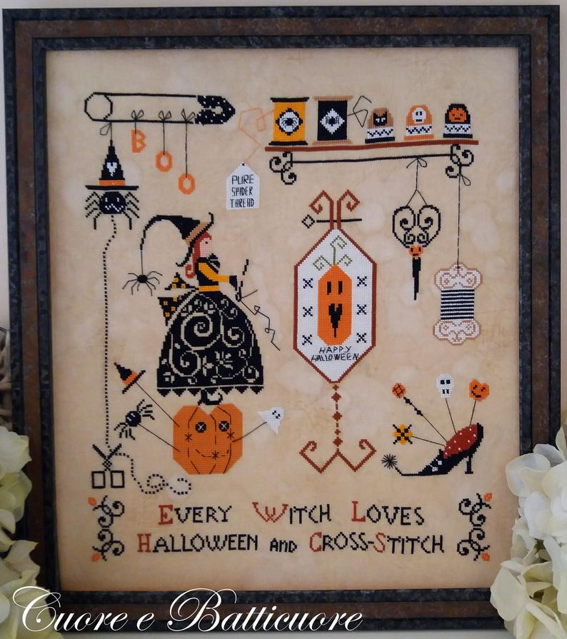 English Version Of Halloween 2020 Chart Halloween and Cross Stitch (including English version