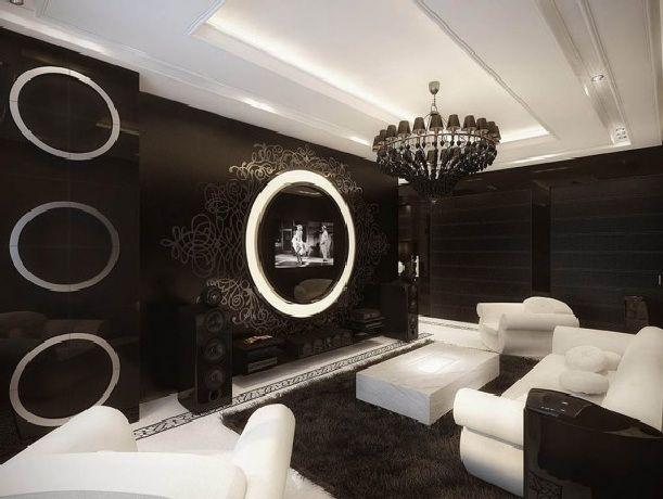 luxury vintage apartment living area on apartment interior design