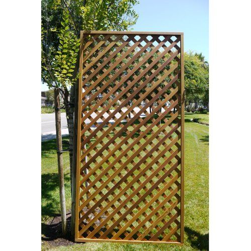 Cedar Delite Diagonal Lattice 4x8 Feet Framed Panel With Exterior ...