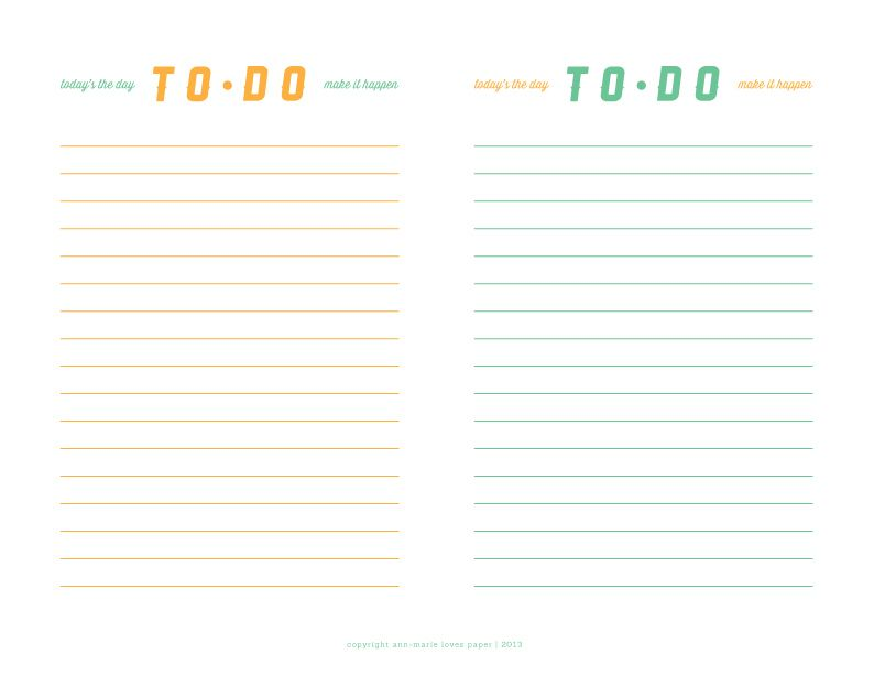 To-Do List Printable Ann-Marie Loves Paper Ann-Marie Loves - project list