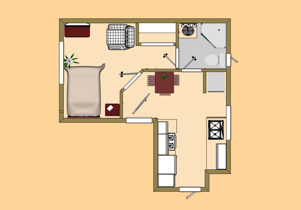 Groovy The Gourmet Kitchen Floor Plan Version Cozys 300 399 Sq Ft Largest Home Design Picture Inspirations Pitcheantrous