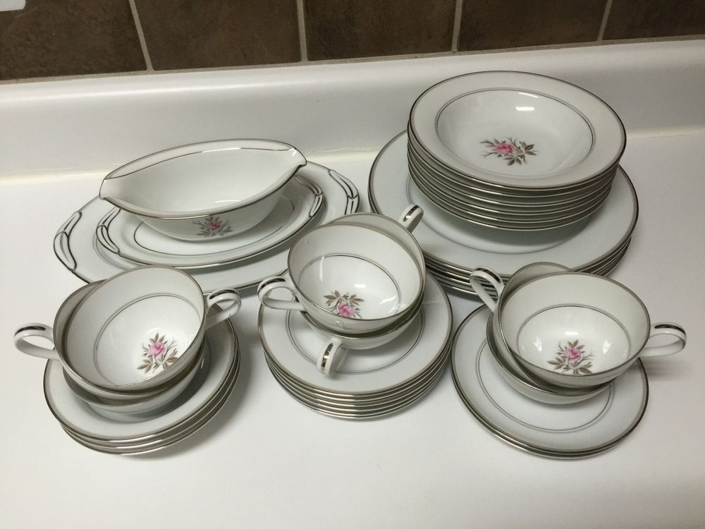 Dinnerware & NORITAKE China ROANNE 5794 Pattern 32 Pieces Made In Japan ...