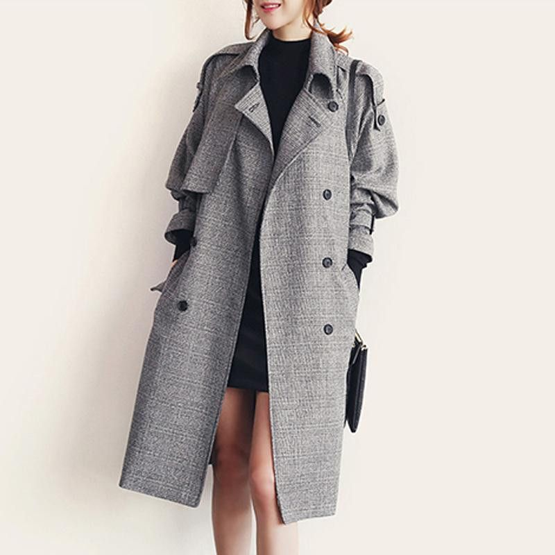 2016 Autumn And Winter Korean Version Of The X-Long Woolen Coat Wool Coat Double-Breasted Plaid England Style Vintage Parka https://goo.gl/tLqcrw   #me #style #instalove #beautiful #sweet #instagood #cute #fun #fashion #smile #cool #hot #swag #amazing #instacool
