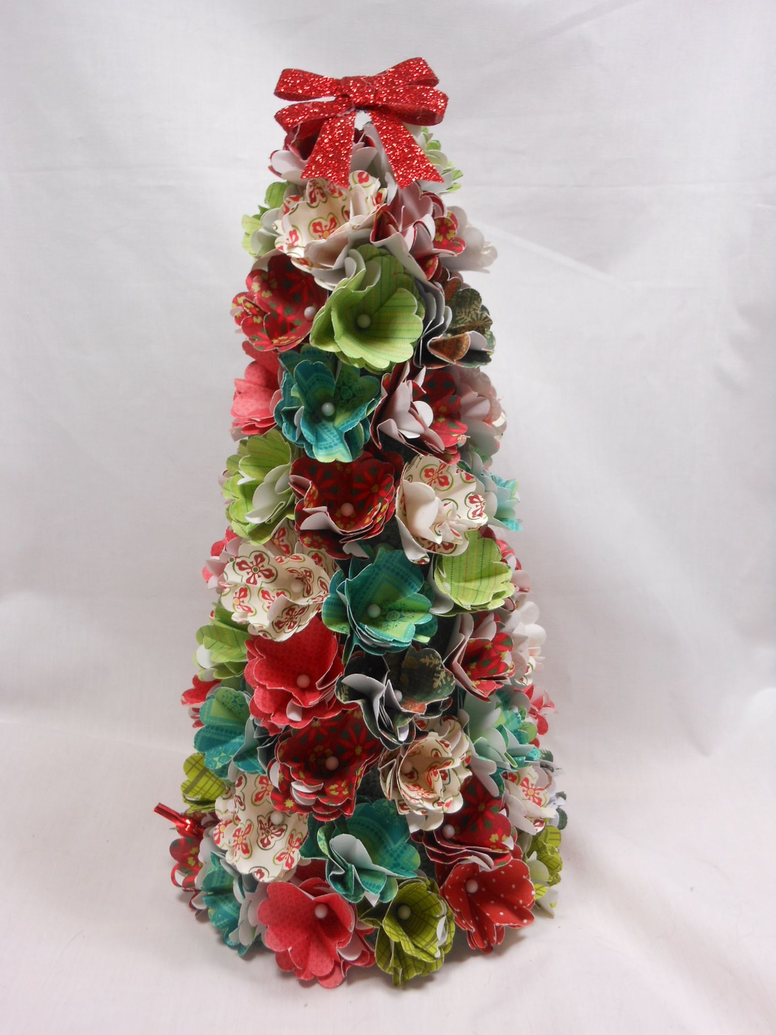 A Christmas tree I made this afternoon using Christmas papers