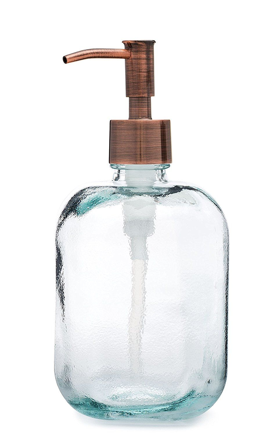 Amazon Com Cubo Square Round Recycled Glass Soap Dispenser