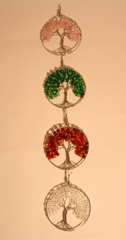 Four Seasons Tree of Life Sun Catcher Set, Glass Beads, Ornament ...