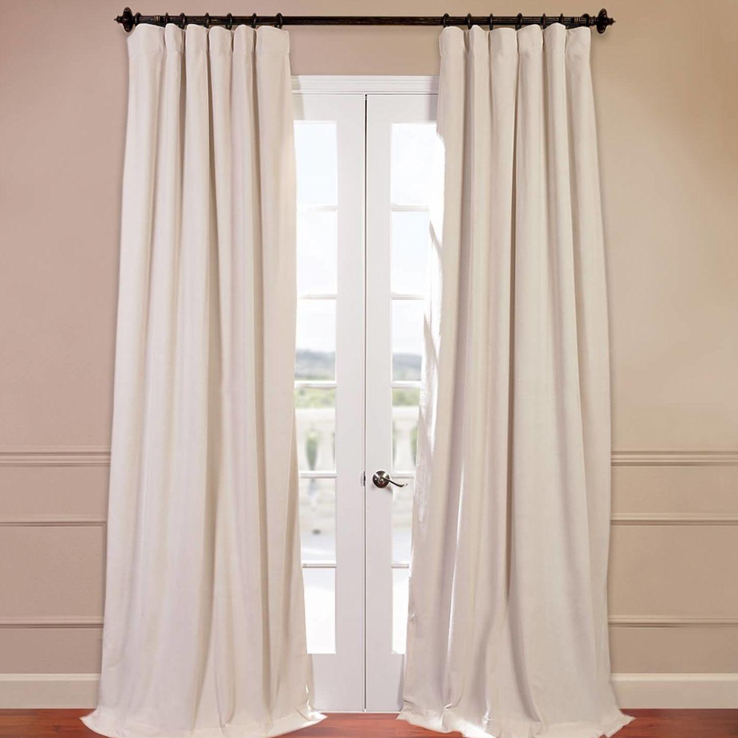 Signature Blackout Velvet Curtain Panel Panel curtains