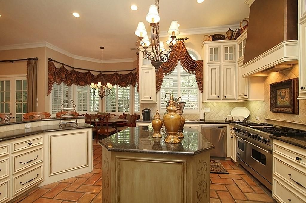 The Kitchen Is Open To The Breakfast And Family Rooms