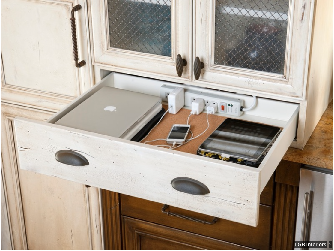 Kitchen Drawer Device Charging Station I Love This And Also The Diffe S Mixed Together