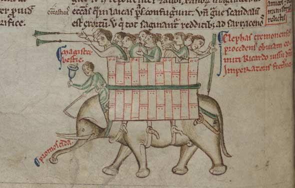 """小山田浩史 on Twitter: """"今日の中世写本象画像: 皆さんの象画像フォルダがみるみる充実していくように、象と城の悪魔合体画像をちょっと集めてみた。もう #WorldElephantDay とか関係ない http://t.co/nAw2FDblu8"""""""