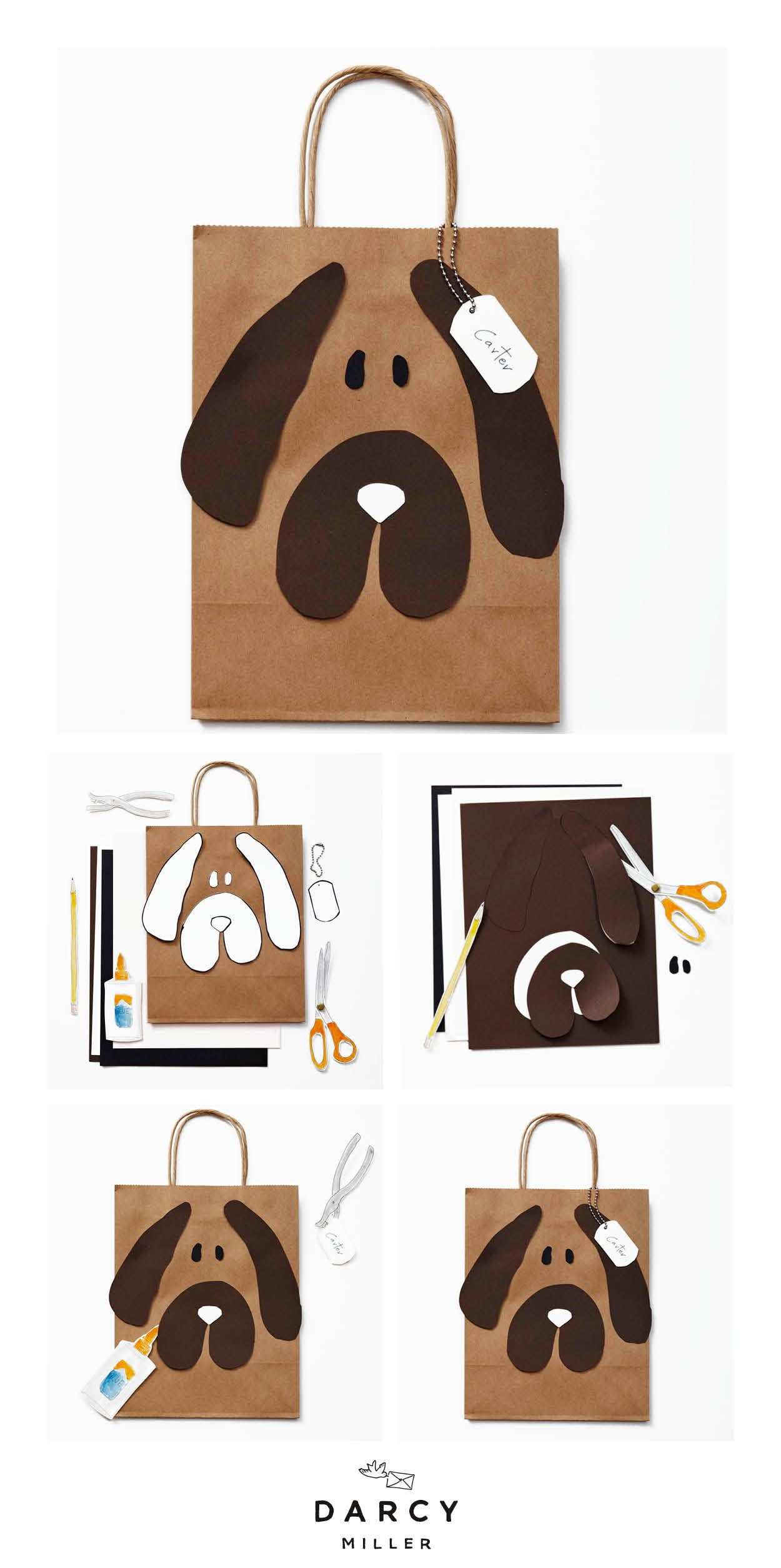 Download Doggie Bags Darcy Miller Designs Diy Dog Gifts Diy Party Bags Brown Bag Gift