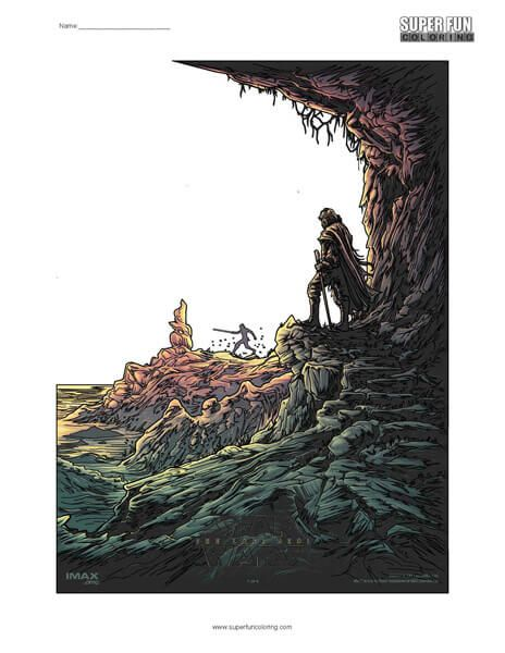 Star Wars Coloring Page | Coloring pages, Cool coloring ...