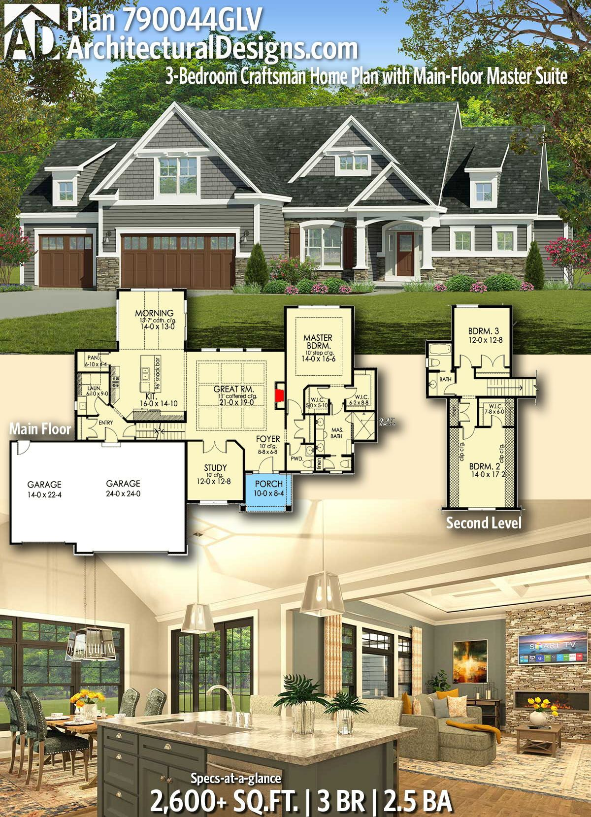 Architectural Designs Home Plan 790044GLV gives you