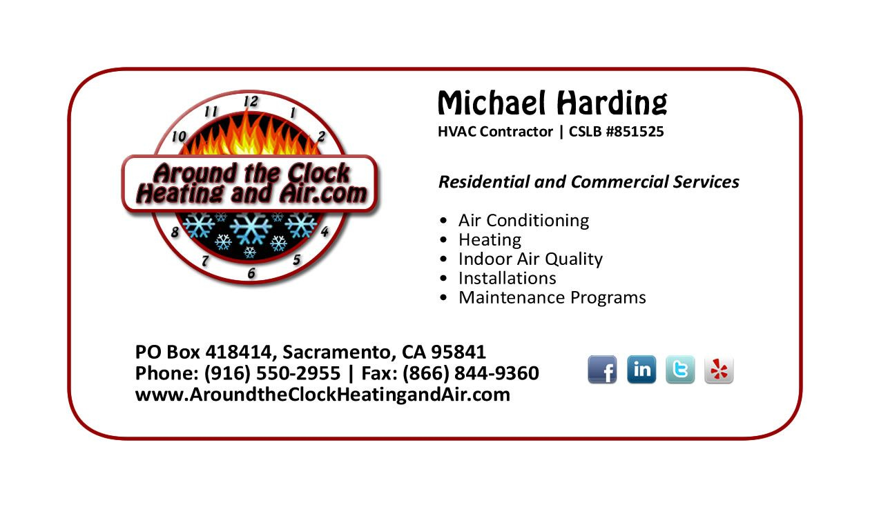 Hvac Client S New Business Card Next Is His Website Heating