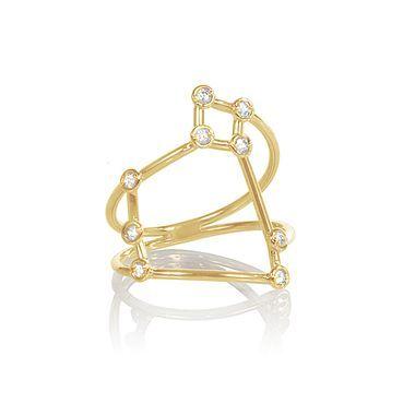 Jessie V E White Gold Libra Ring sqlETx