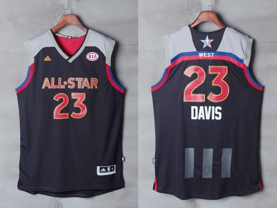 15e975df3a5 ... Jerseys Mens Adidas New Orleans Hornets 23 Anthony Davis Black 2017 Nba  All-star Game ...