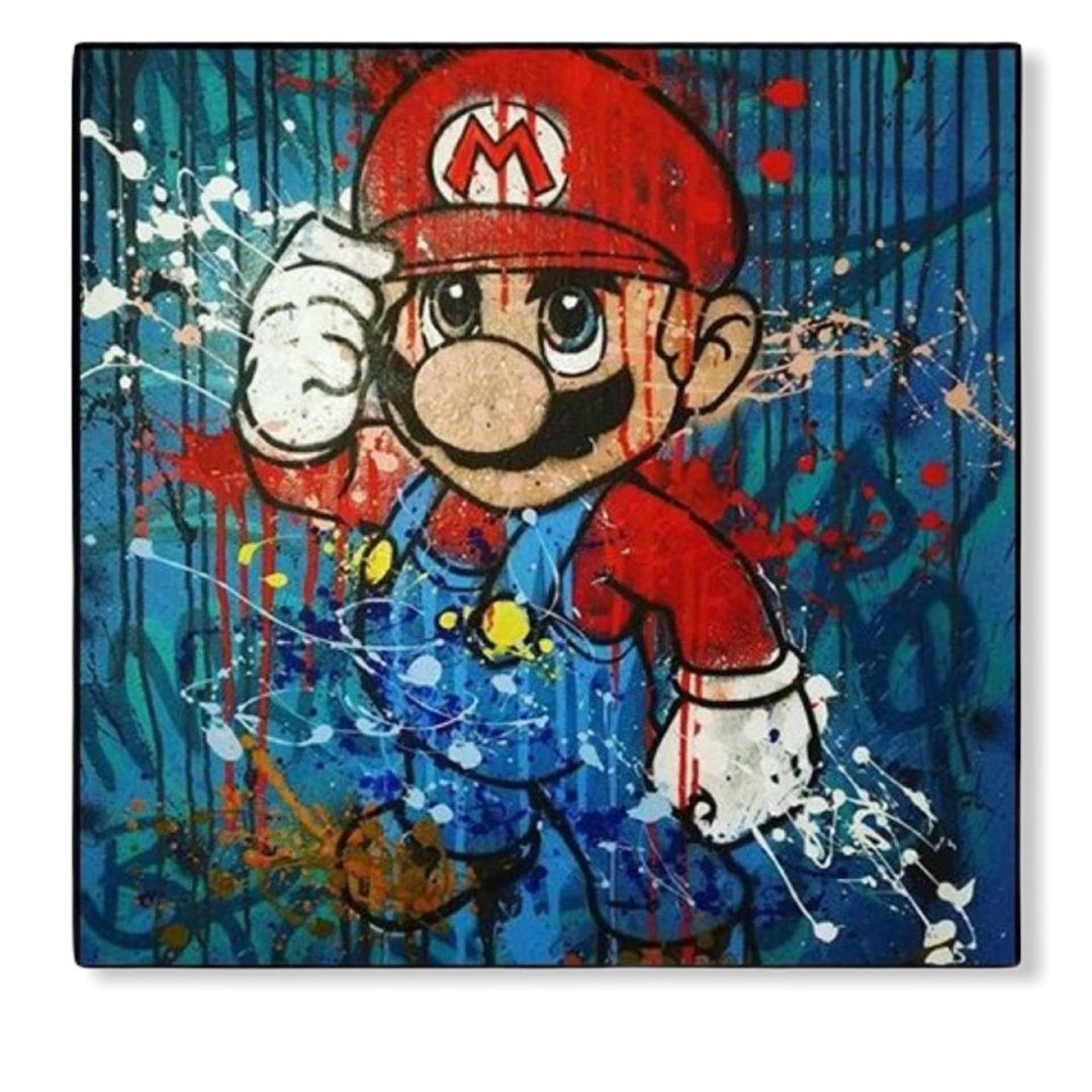 Super Mario Canvas Printing Home Decoration Wall Art Perfect Etsy Canvas Prints Prints Art