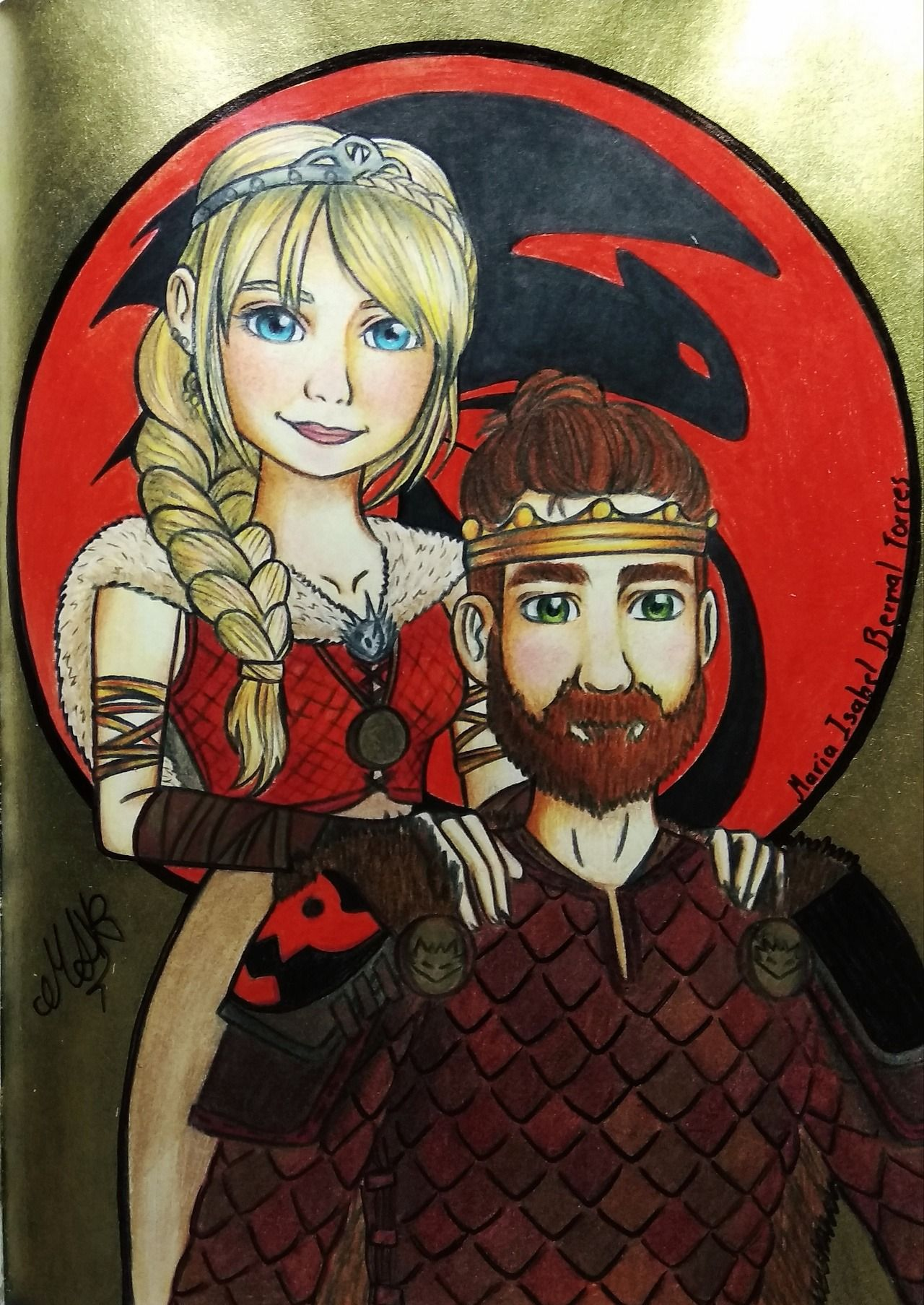 Isabellart14 Fan Art From How To Train Your Dragon Hiccup And Astrid How Train Your Dragon How To Train Your Dragon Dragon Images
