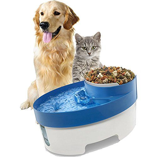 New 3 In 1 Pet Water Fountain Dog Cat Puppy Feeder Bowl Electric