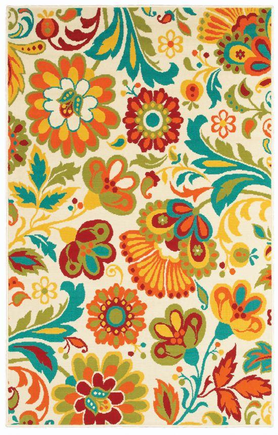 Shaw Al Fresco Floral Beige Rug Floral Rug Shaw Rugs Beige Rug