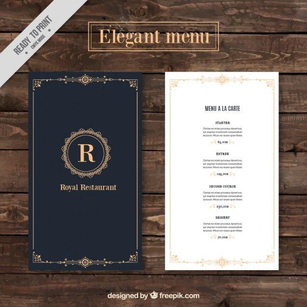 Classy Menu Restaurant Template Menu Card Design Restaurant Menu Design Menu Design Template
