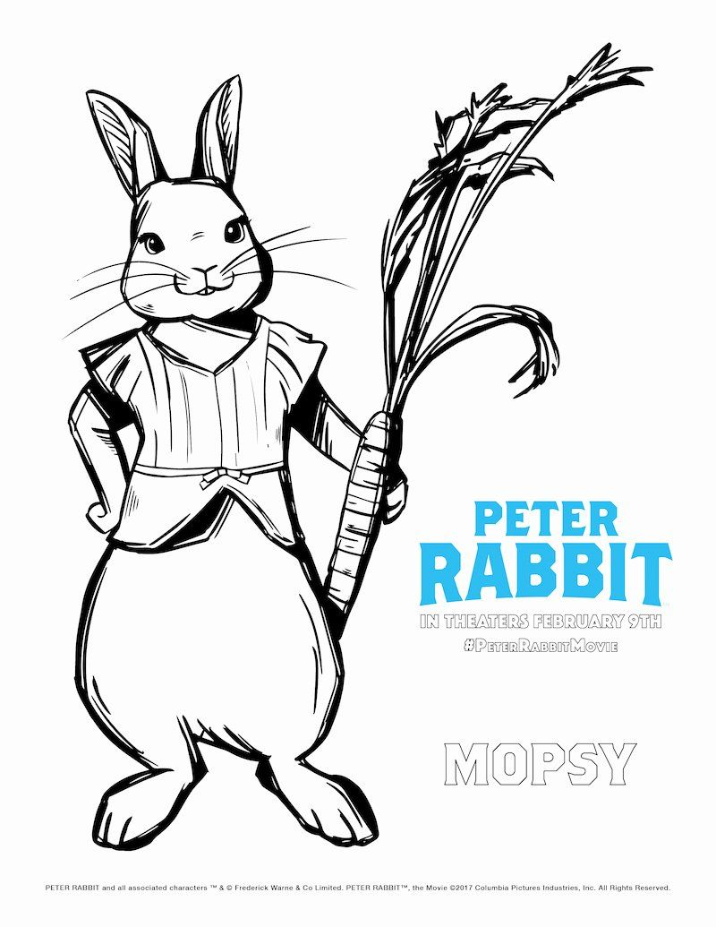 Peter Rabbit Coloring Page Luxury Looking For A Mischievous But Fun Adventure Check Out James Corden A Bunny Coloring Pages Cartoon Coloring Pages Peter Rabbit