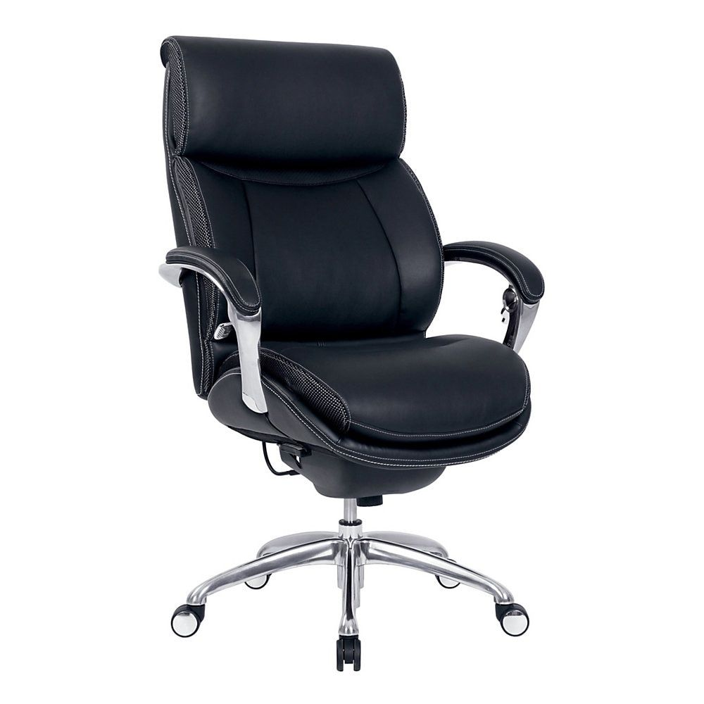 Serta Icomfort I5000 Leather High Back Chair Onyx Silver High