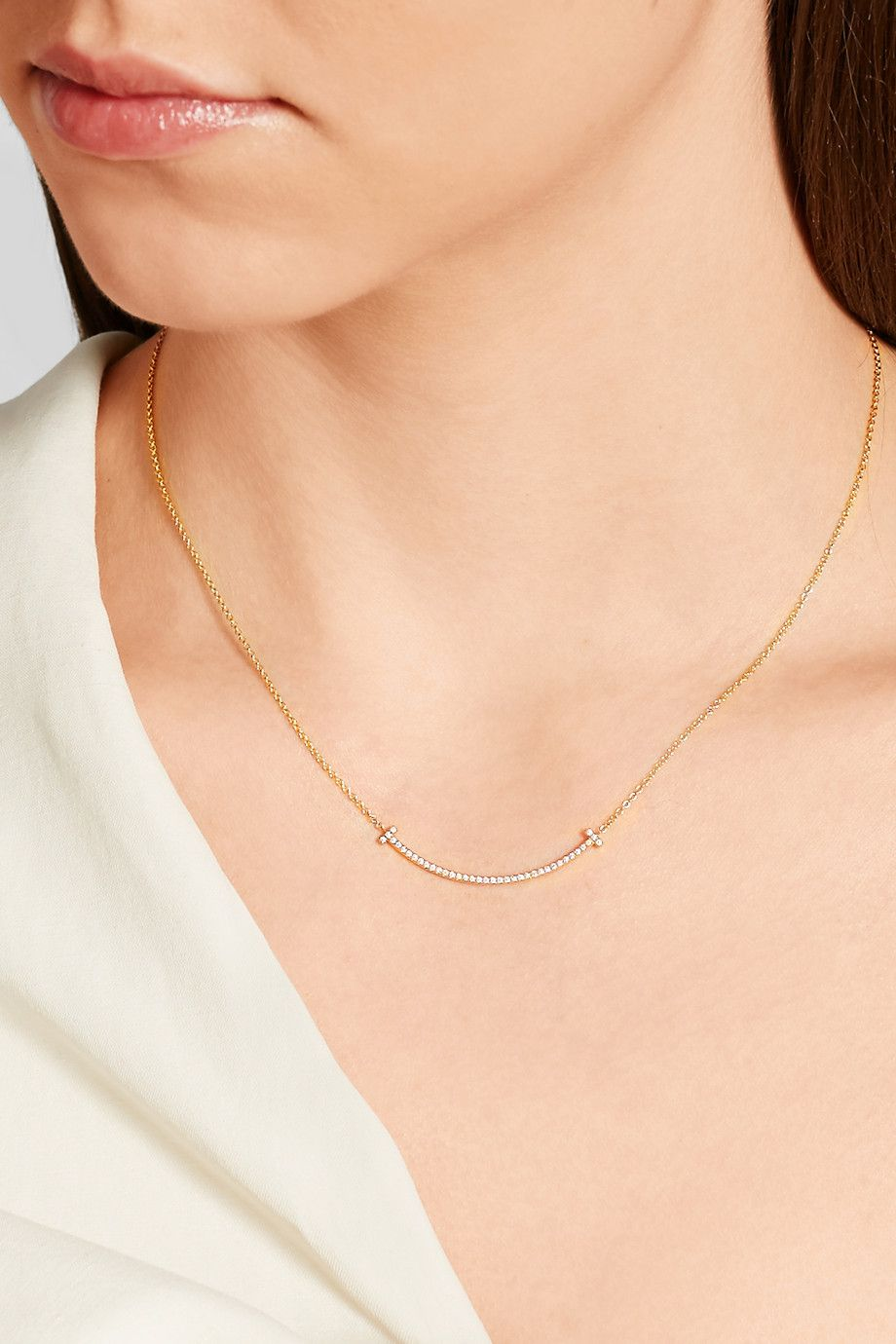 f8c2c9f18 Tiffany & Co. - T Smile 16 | Jewellery | Tiffany smile necklace ...