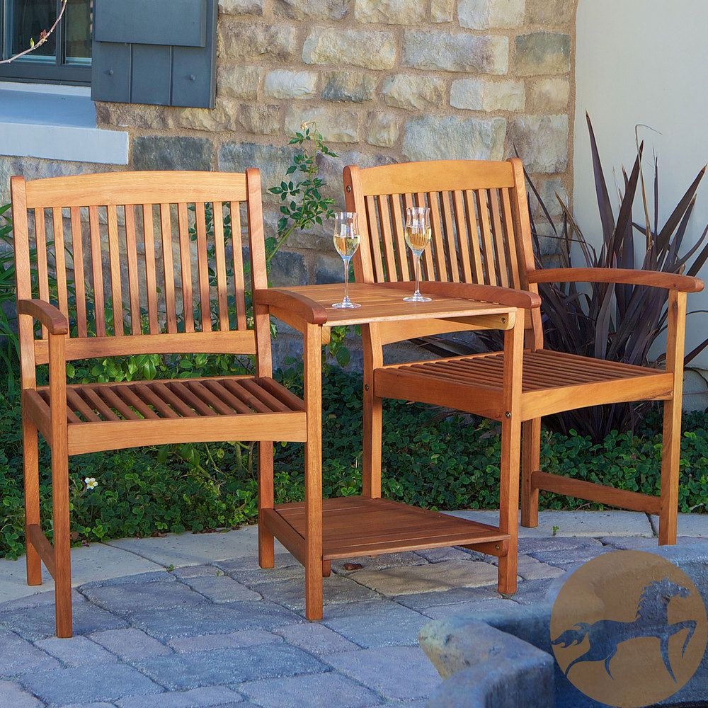 Christopher Knight Home Carolina Deluxe Eucalyptus Wood Adjoining ...