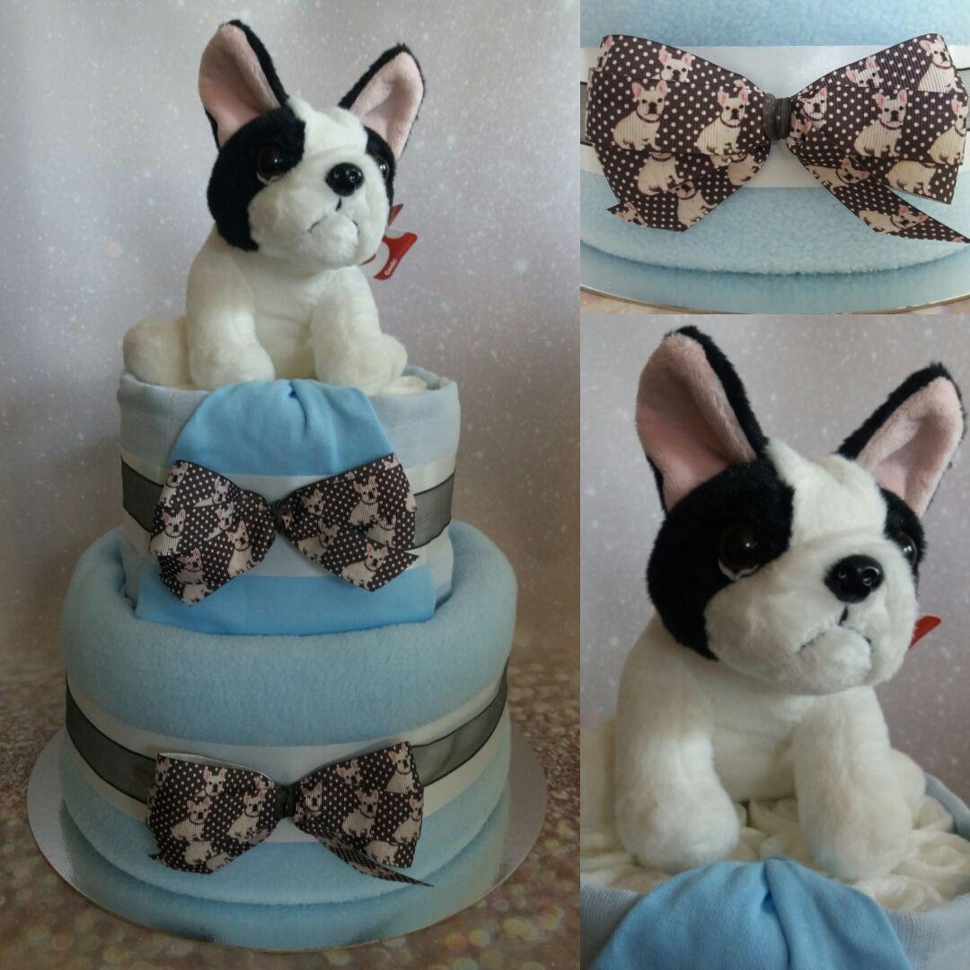 French bulldog nappy cake nappy cake bulldog cake baby