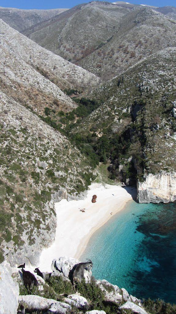 Gjiri I Grames Gadishulli Karaburunit Albania Peninsula De