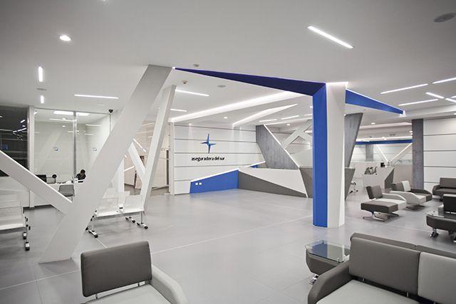 Aseguradora del Sur,  Lobby por 4studio diseño interior  http://www.clave.com.ec/index.php?idSeccion=1463