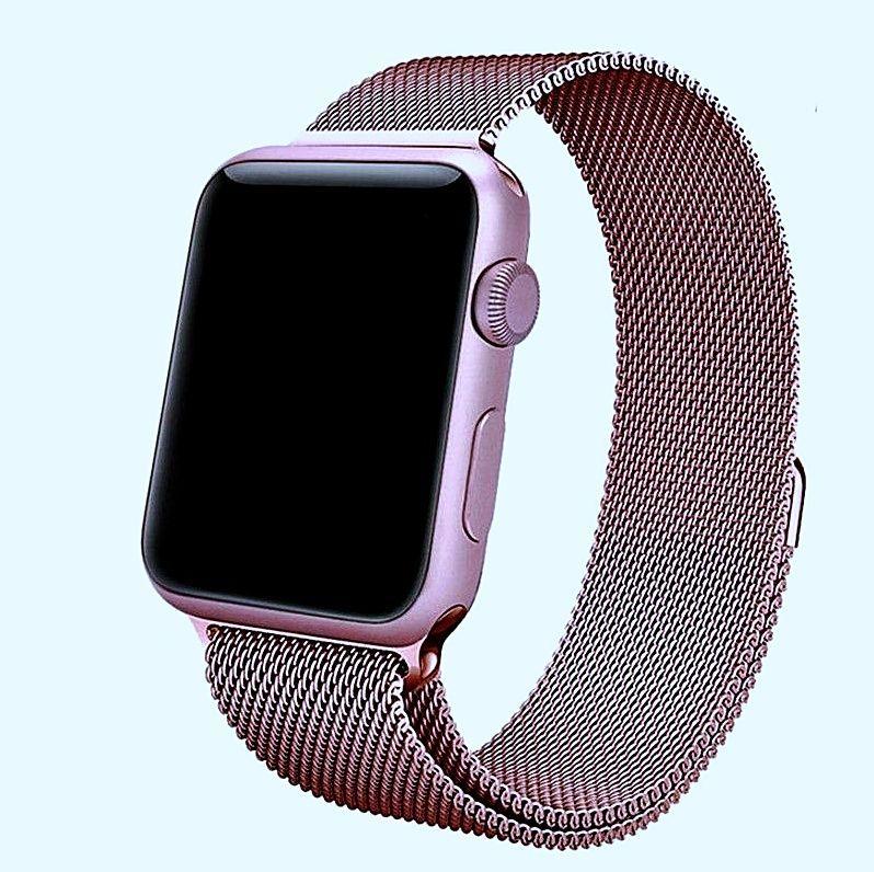 Details about Pulseras Para Apple Watch Correas De Reloj Hombre Mujer Brazalete Rosa Oro Plata