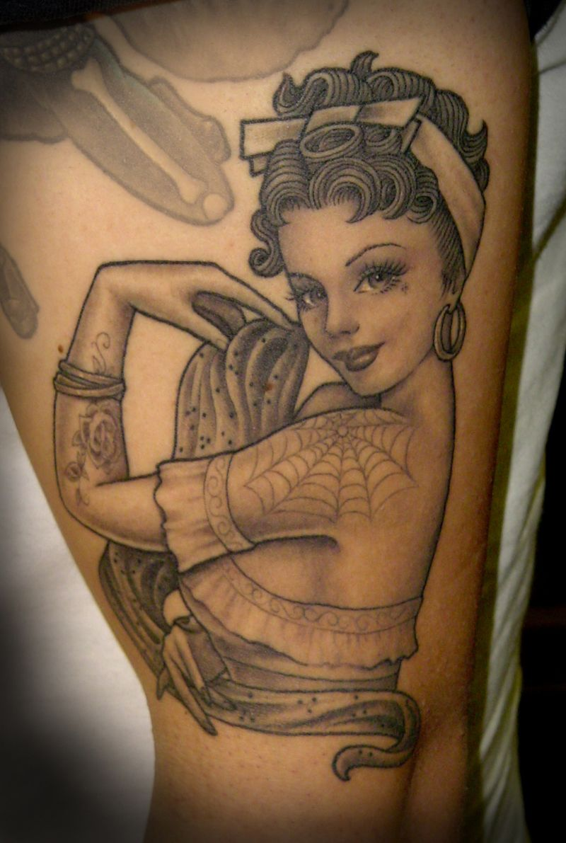 Pin By Bada Bing On Miscellaneous Tattoos Pin Up Girl Tattoo Pin