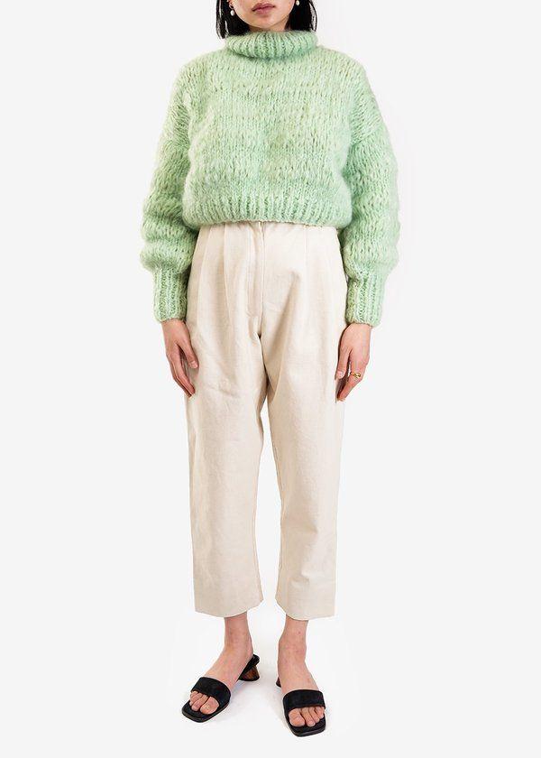 Frisson Knits Isabella Sweater – Mint