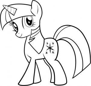 How To Draw Twilight Sparkle My Little Pony Twilight Sparkle Step By Step Cartoons My Little Pony Coloring My Little Pony Drawing My Little Pony Twilight