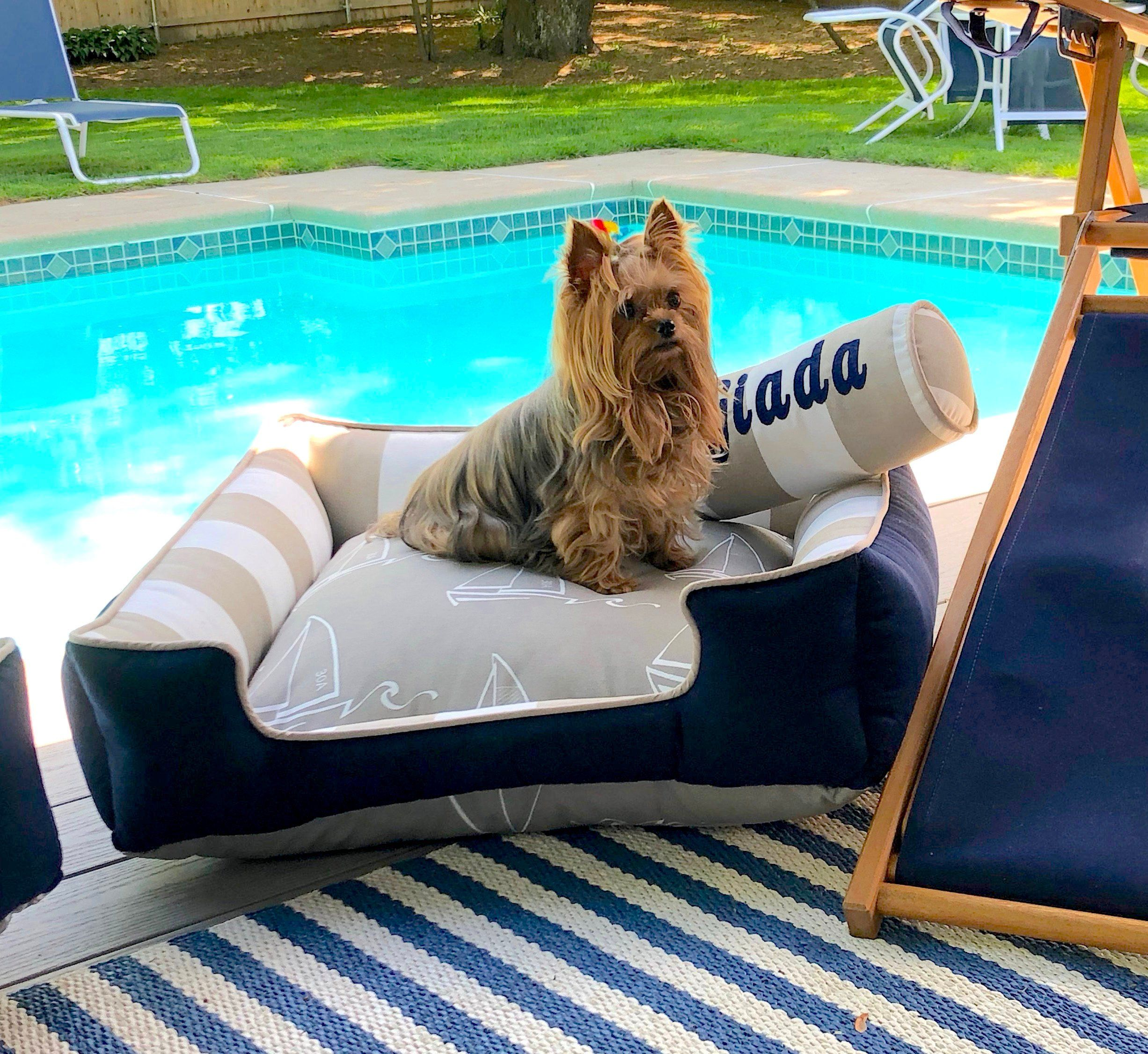 Large Dog Bed Nautical Dog Bed Puppy Bed Beach Theme