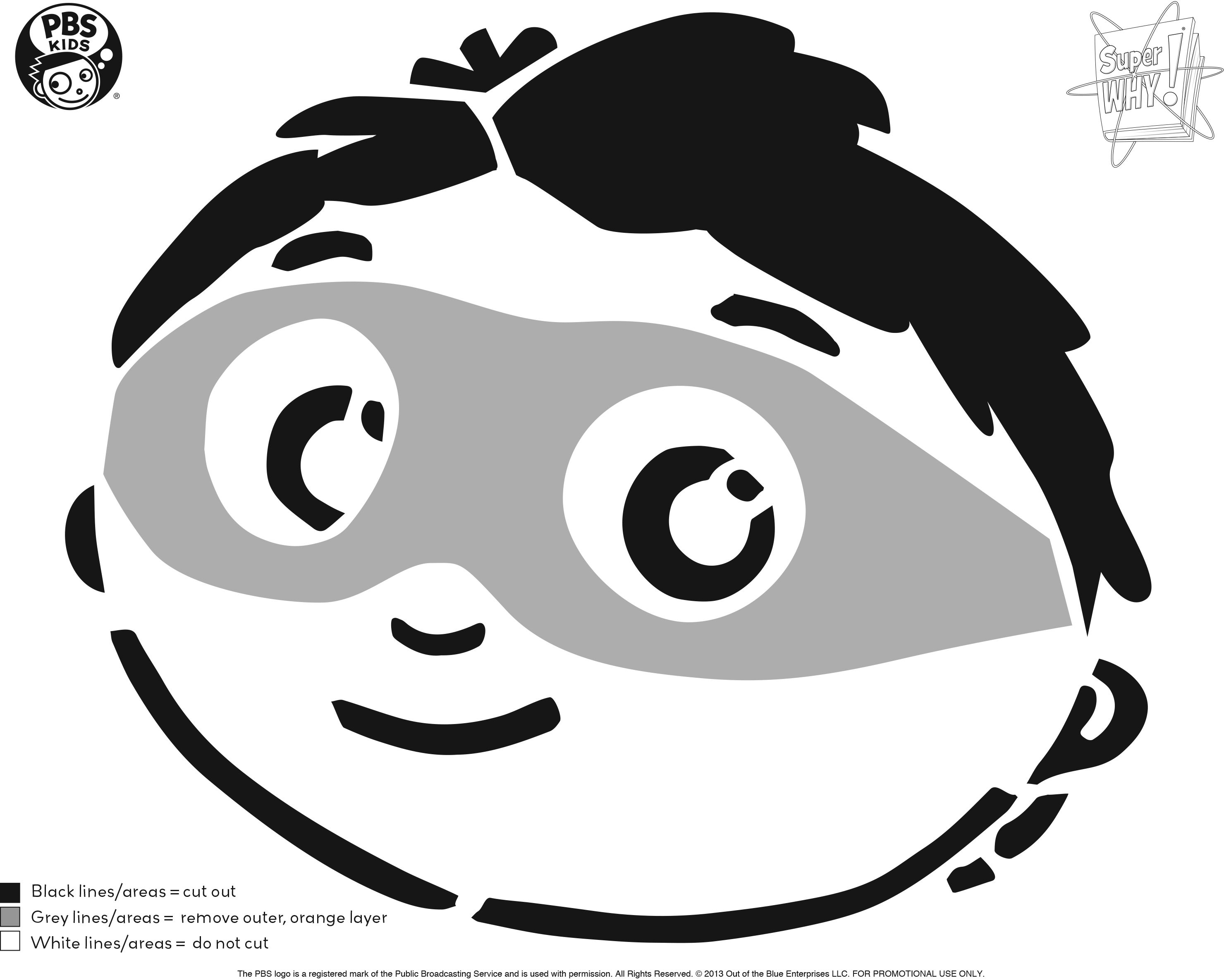Super Why! Pumpkin Carving Template . Happy Halloween! . PBS Parents ...