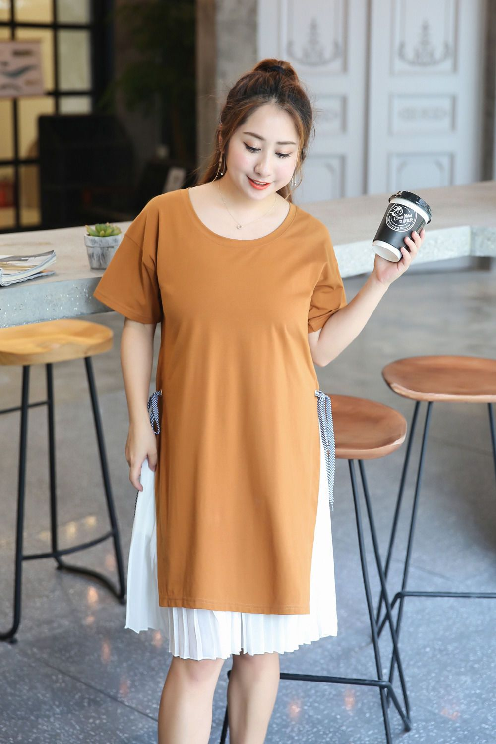 Summer plus size xlxl short sleeve casual style loose two