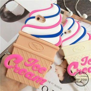 2016 Süße modische Ice Cream Silikon Handyhülle für Iphone5/5s/6/6plus