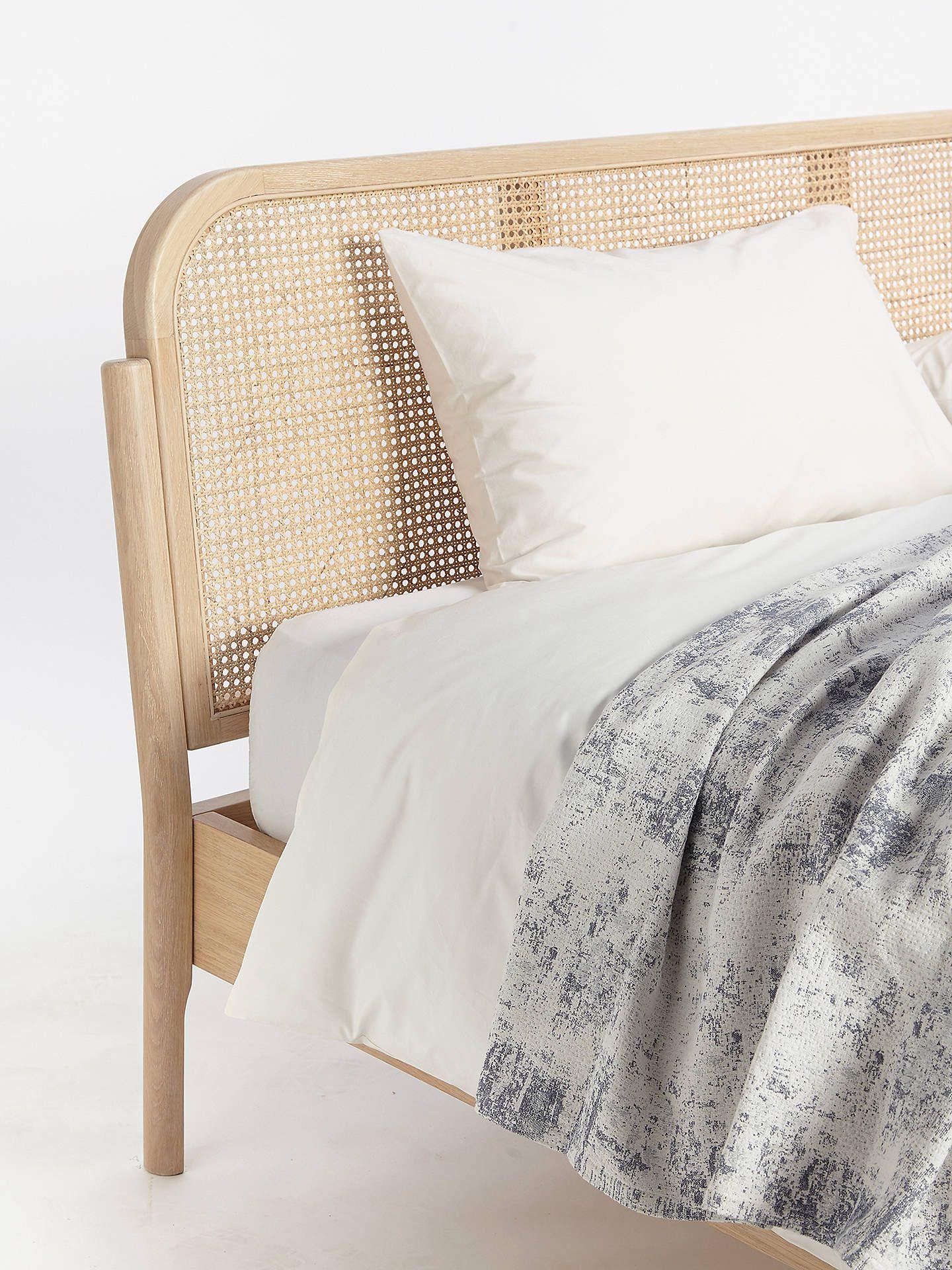 John Lewis Partners Rattan Bed Frame Double Oak Rattan Bed