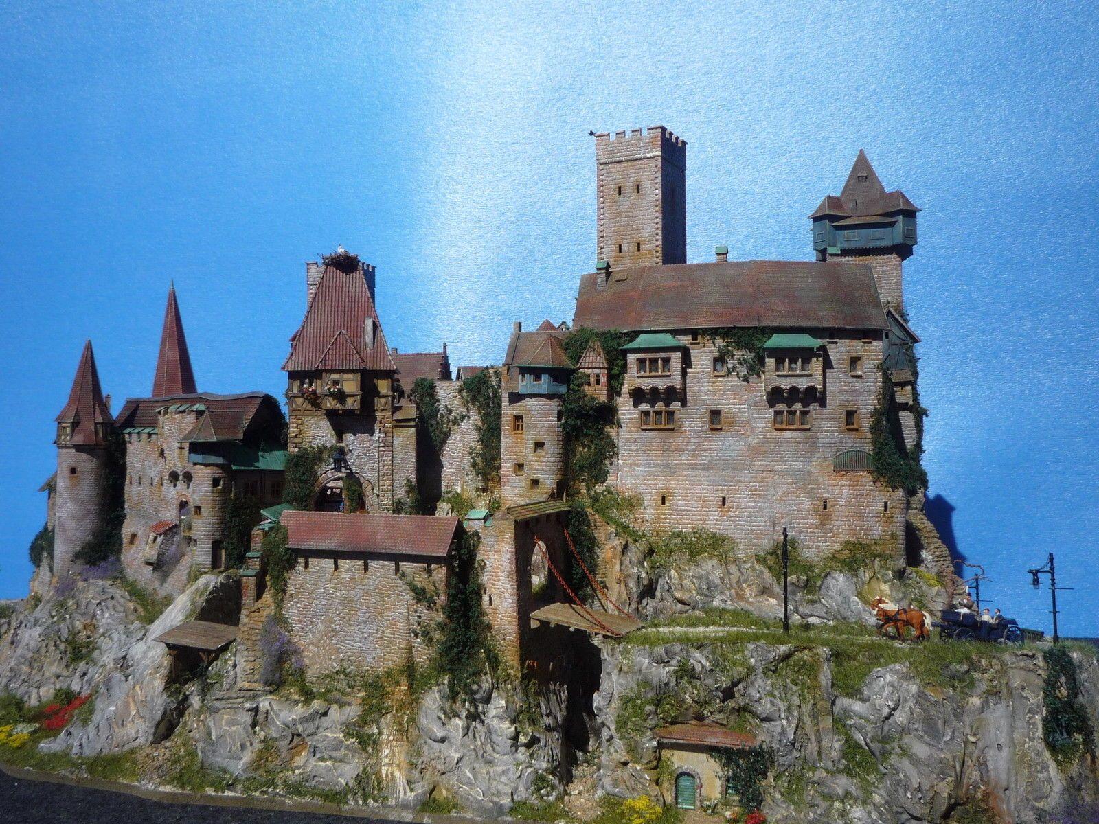 Diorama Castle Burg Schloss Elbenwald Patiniert Beleuchtung Kutsche Ebay Burg Diorama Schloss