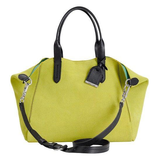 Cole Haan  Crosby Suede Small Shoppe  color: neon sunshine