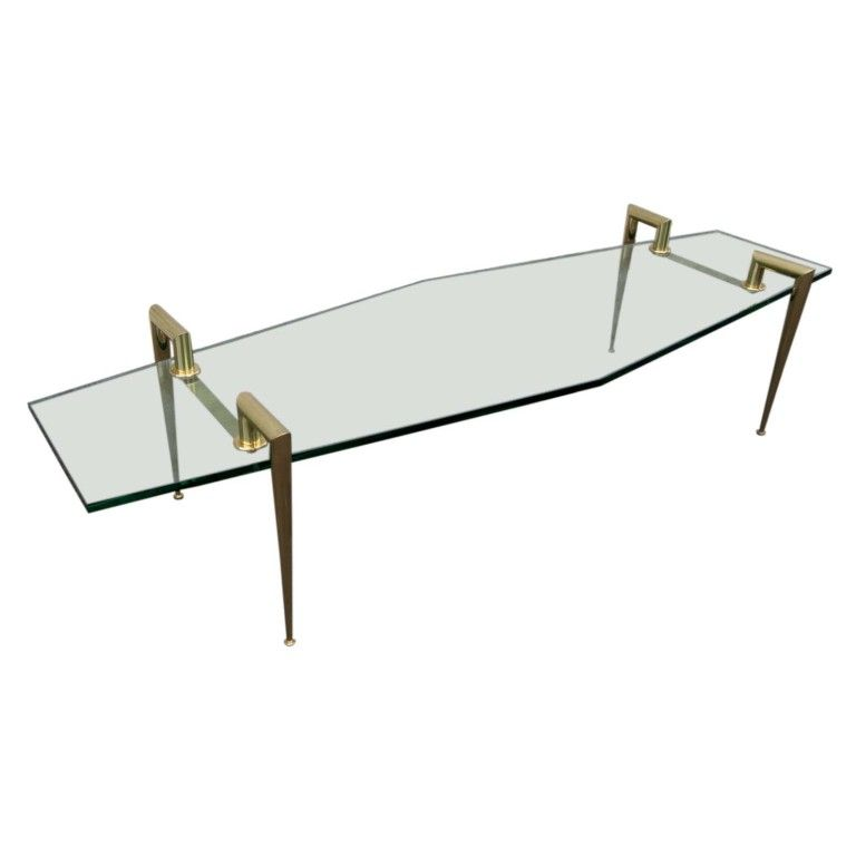 60 39 S Italian Glass Coffee Table Tables Modern And Interiors