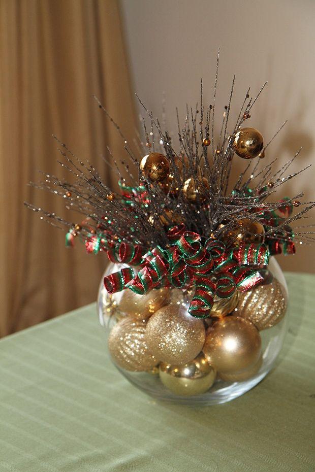 Pin De Lisa S En Christmas Pinterest Adornos Navidenos - Arreglos-navideos-para-mesa