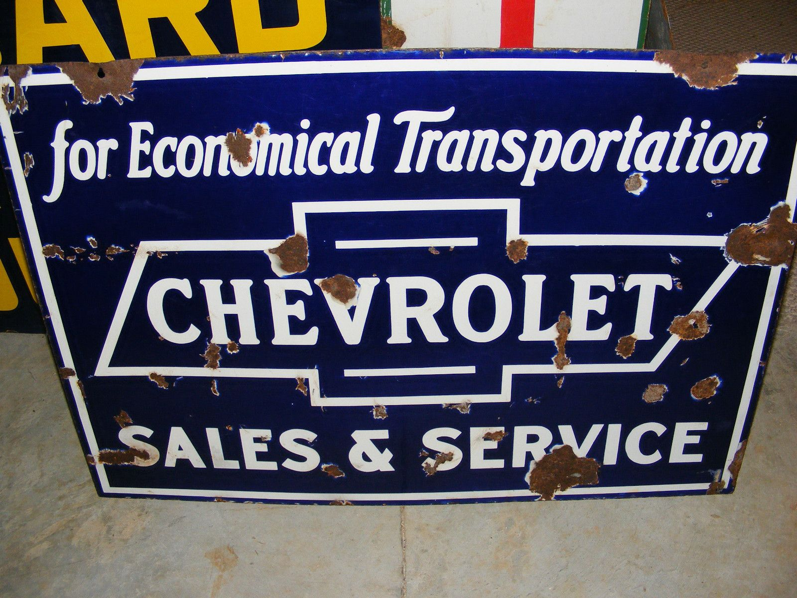 Chevrolet Car Signs Porcelain Signs Vintage Metal Signs